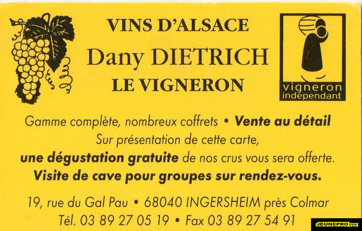 GRANDS VINS DALSACE Dany DIETRICH Vigneron